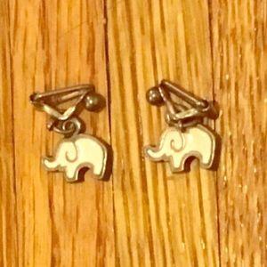 Elephant clip on earrings
